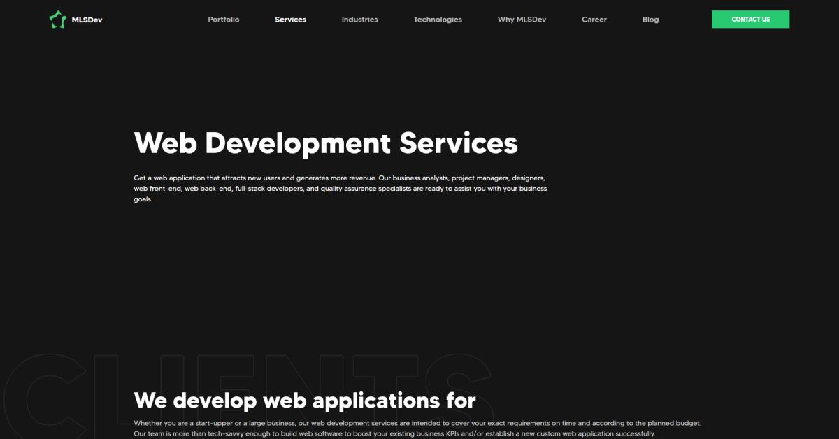 Web Development Services | MLSDev